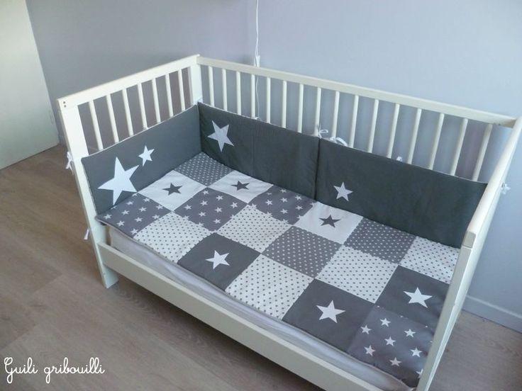 Couvertures bébé patchwork d'étoiles