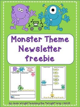 If you are using a monster theme, this newsletter template will add to the excitement this year! The file is in PDF and Power Point so it may be edited to meet your needs.Be sure to check out these other Monster Theme Resources:Monster Theme Classroom RulesMonster Theme Behavior Clip Chart and Reward Catalog Monster Theme Job Chart and Reward Catalog Monster Theme Calendar Set and