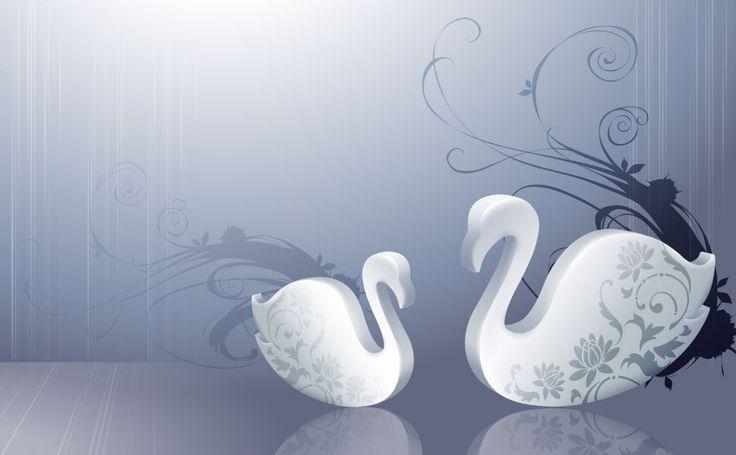 Angels  swans HD Wallpaper