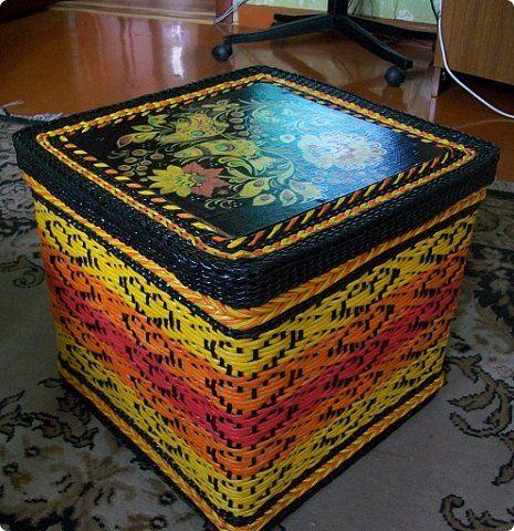 Поделка изделие Декупаж Плетение Схемы для ситца-2 Бумага Бумага газетная Трубочки бумажные фото 1