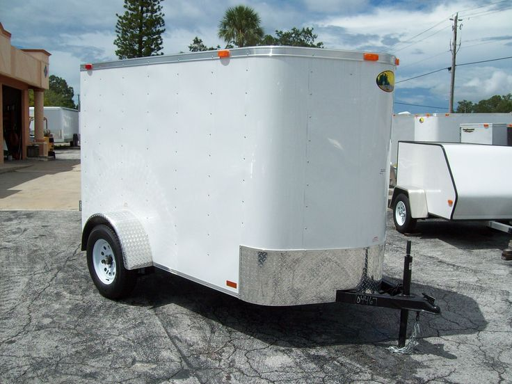 The Cargo Trailer Store - 5 x 8 Single axle Enclosed Cargo Trailers for sale in Tampabay's Palmetto, Florida. Single axle trailers. Steve Covey Enterprises