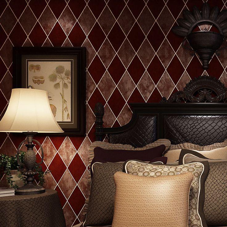 beibehang American retro wall paper 3D fashion papel de parede bedroom background wall desktop wall paper rolls 3d flooring