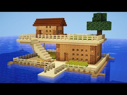 Minecraft: How to Build a Survival House on Water - House Tutorial - YouTube