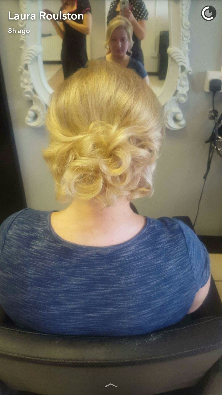 #fusionHDhairstyles #updo #softstyle ❤😍💋 soft loose curls pinned at the back of the neck