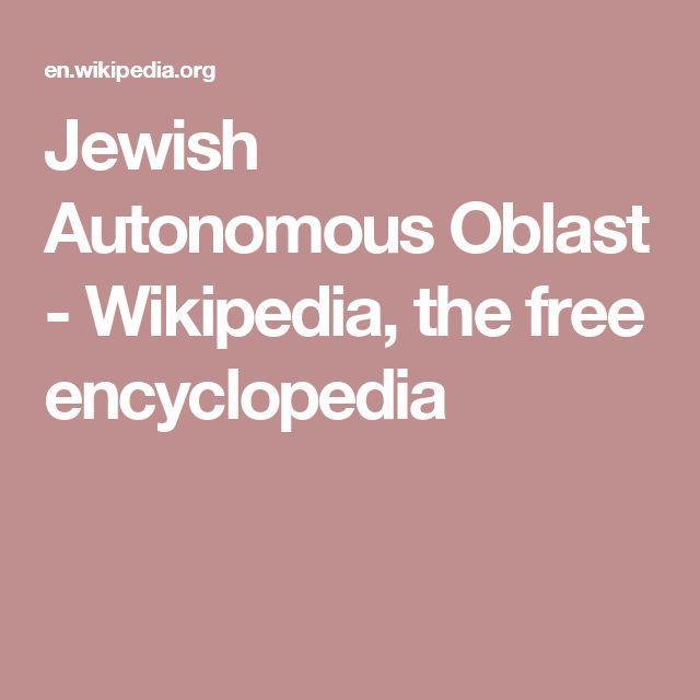 Jewish Autonomous Oblast - Wikipedia, the free encyclopedia