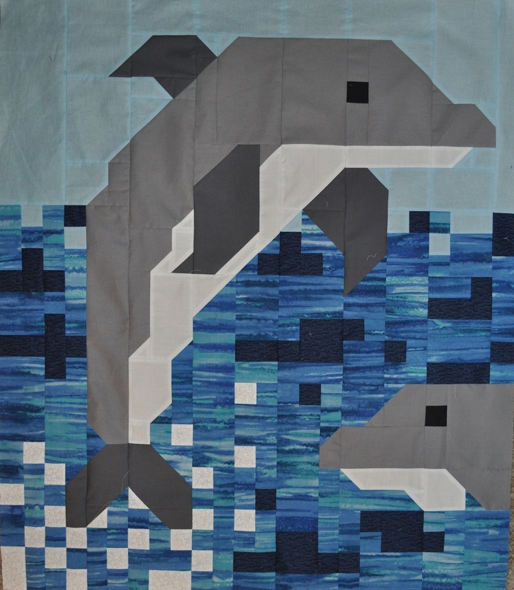 11 Best Quilts Dolphins Images On Pinterest Dolphins