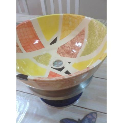 101 mejores imágenes de bachas ceramicas en pinterest | lavabos ... - Bachas Para Bano Pintadas A Mano