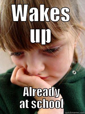 Homeschool meme wake up at school