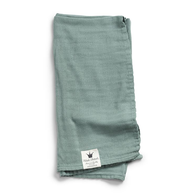 Bamboo Muslin Blanket - Mineral Green From Elodie Details BABY GEAR, SS18 - The Gilded Garden