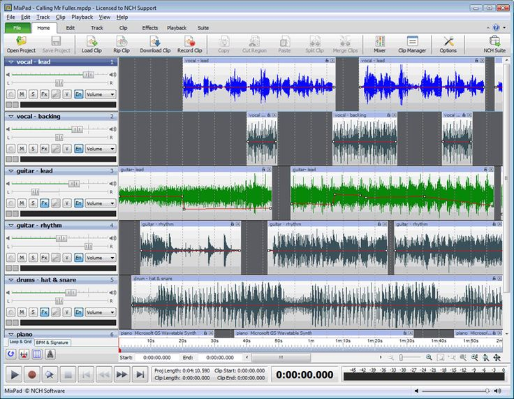 MixPad Multitrack Recording Software For Sound Mixing And Music Production Is Designed Professional