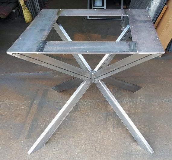 Modern Table X Base for Square or round table Model by DVAMetal