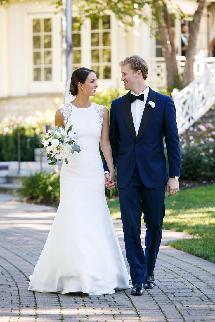 50 best wedding colors images on pinterest marriage costumes blue tuxedo black lapels bowtie white satin wedding dress lace cap ombrellifo Image collections