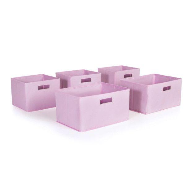 Guidecraft Pink Storage Bins-Set of 5 - Guidecraft