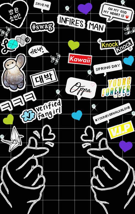 Black version kpop kpopper fangirl iphone wallpapers - Housse de coussin 65 65 ...