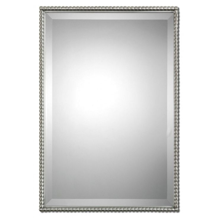 Bathroom Mirror Chrome best 25+ brushed nickel mirror ideas on pinterest | white vanity