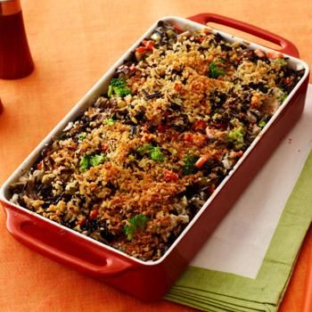 Broccoli-Wild Rice Casserole Good with a few variations to make it veg!