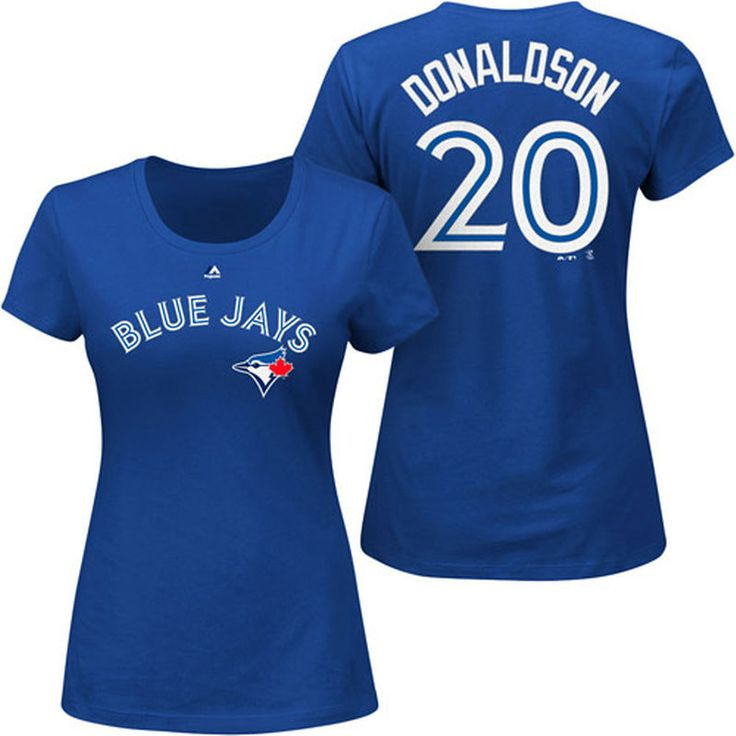 Josh Donaldson Toronto Blue Jays Majestic Women's Plus Size Name & Number T-Shirt - Royal