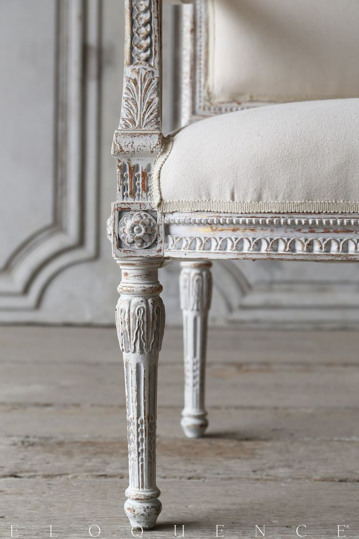 ELOQUENCE® Gorgeous Details on a Pair of Louis XVI Style Armchairs