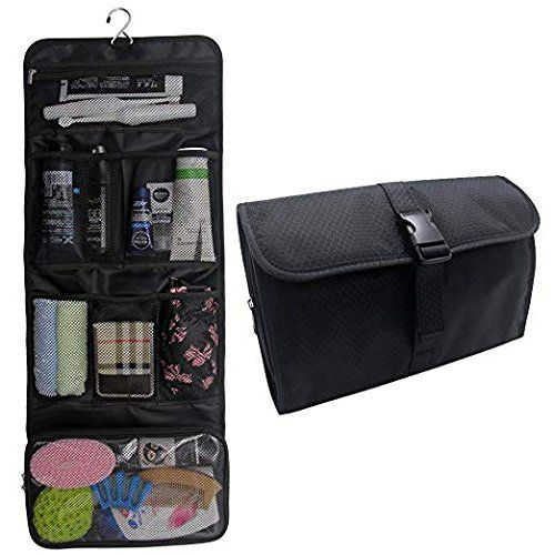 efc4c65a4f Hanging Toiletry Bag Travel Kit for Men and Women Waterproof Wash Bag  Compact Makeup Organizer Bag Shaving Kit for Bathroom Travel Accessories  Cosmetics ...