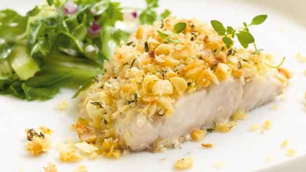 A quick and tasty recipe for macadamia crusted barramundi fillets.