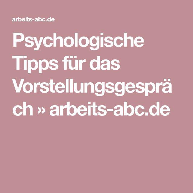 Psychologische Tipps für das Vorstellungsgespräch » arbeits-abc.de