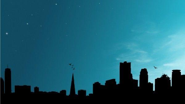 Silhouette city wallpaper