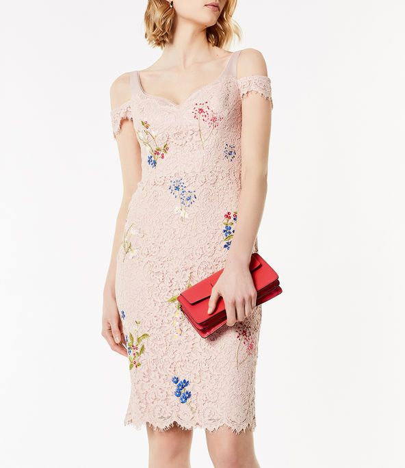 Kalem Elbise Modelleri Pudra Askili Dusuk Kol Dantelli Dantel Elbise Elbise Modelleri The Dress