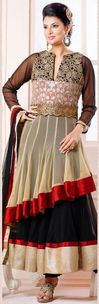SF Designer Anarkali Indian Pakistani Salwar Party Kameez Bollywood Wear Ethnic  #Lookbollywood #BollywoodSalwarKameez