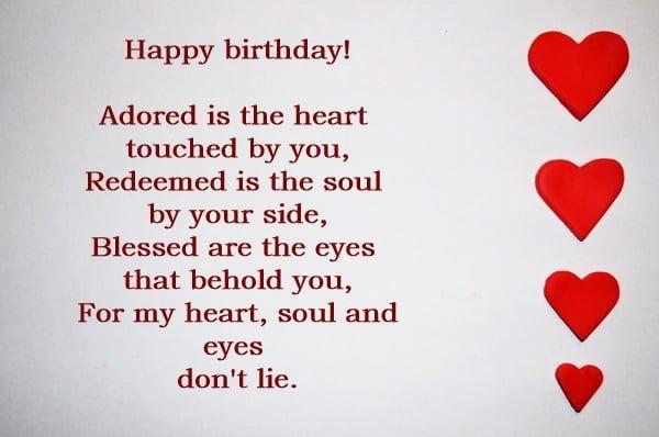 Happy Birthday Wishes For My Lover Unique Romantic Happy
