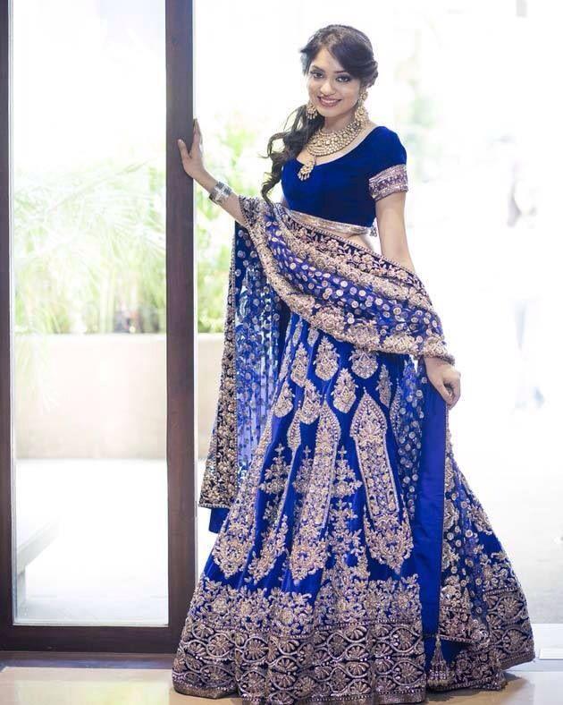 Manish Malhotra blue #bridal lehenga