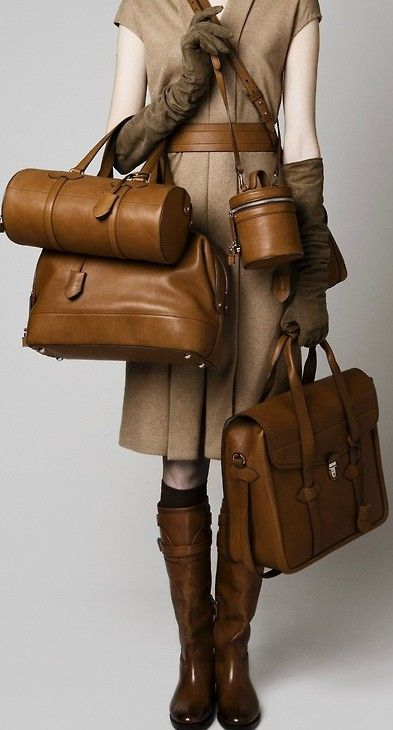 Lovely leather bags. Also, the boots!