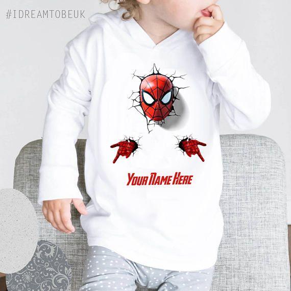 Spider man hoodie  baby hoodie personalised hoodie marvel