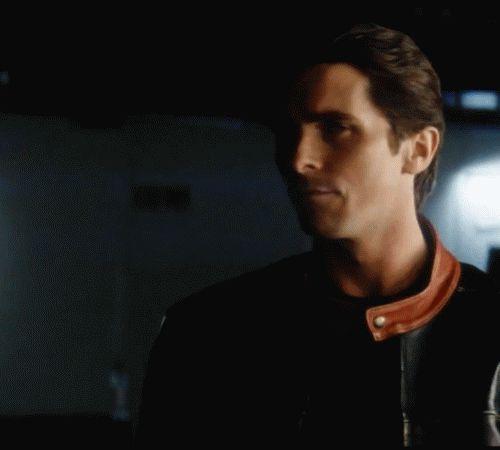 Christian Bale wardrobe test for The Dark Knight gif.  Thanks Falco!