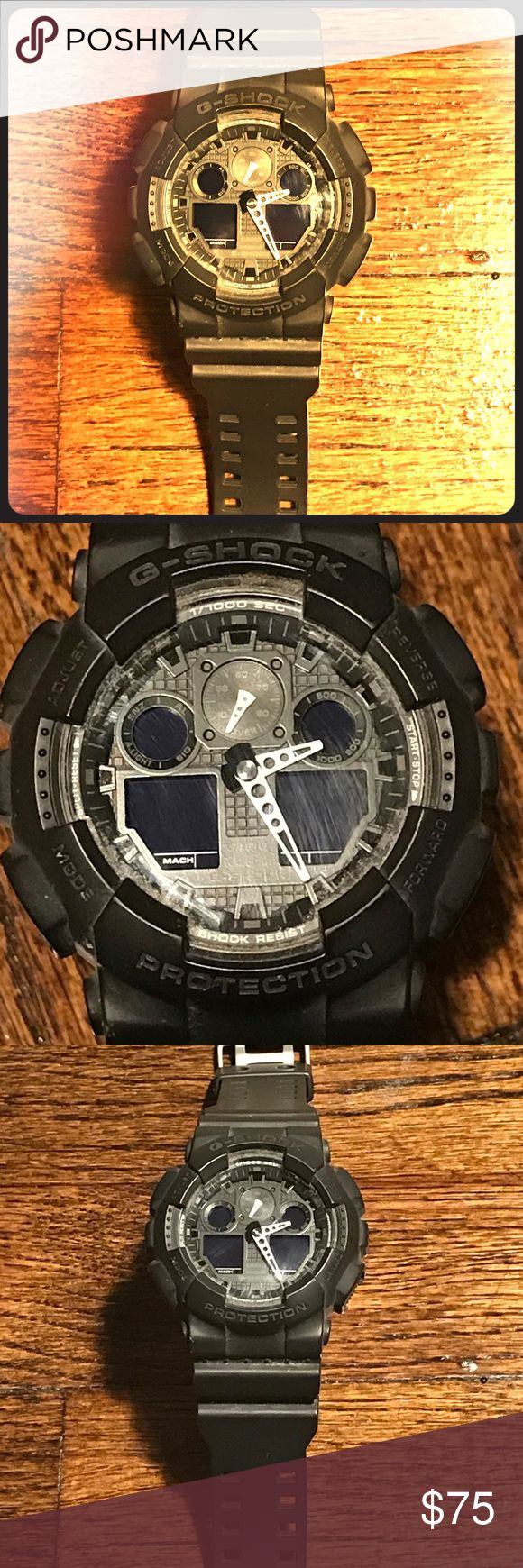 GSHOCK Watch - Black (Casio 5081 GA-100) A timeless fashion statement whether at the gym, on the job, or for the classic date night! Very comfortable and goes with everything. Amazing physical condition, needs a new battery as reflected by price! Accessories Watches