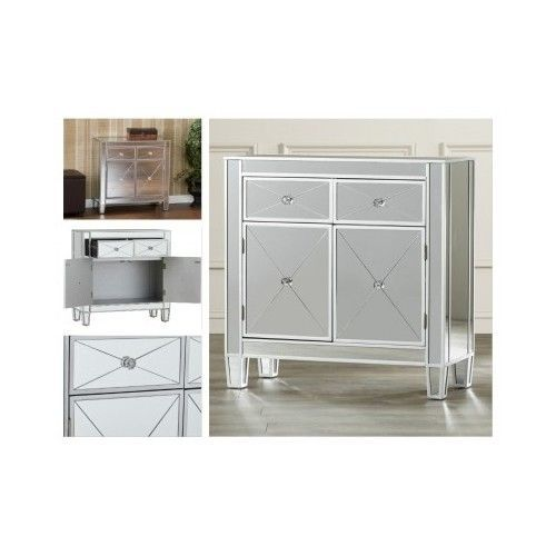 Mirrored-Console-Cabinet-Hollywood-Regency-Dresser-Bedroom-Nightstand-Furniture