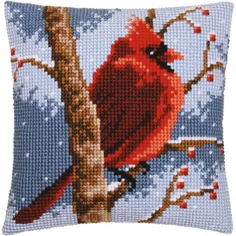Vervaco® Red Bird Pillow Cover Needlepoint Kit $34.99