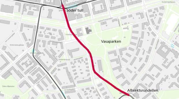 Ljuralänken, spårväg mellan Ljura och Södertull. Byggstart 2018, Norrköpings kommun.