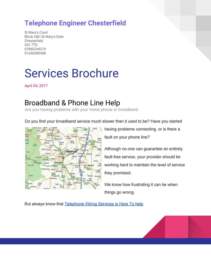 Telephone Engineer Chesterfield - Phone LineTelephone Engineer - privacy notice template