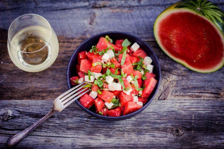 Salade d'été :) Melon d'eau, feta et basilic http://monplana.ca/salade-dete/  Visitez-nous sur Facebook https://www.facebook.com/monplana/