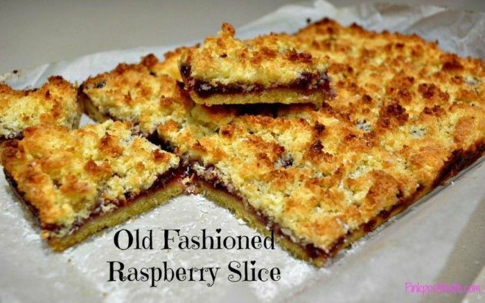 Old-Fashioned Raspberry and Coconut Slice Recipe