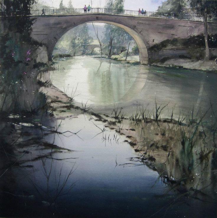 1º Premio Acuarela Trillo 2012/1 st. Prize Watercolor Contest -Trillo 2012 100 x 100 cm.
