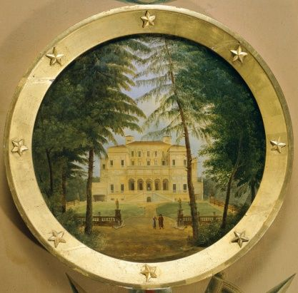 Italy, Rome, Villa Borghese, painting kept in Castle Rambouillet, France, 18th century