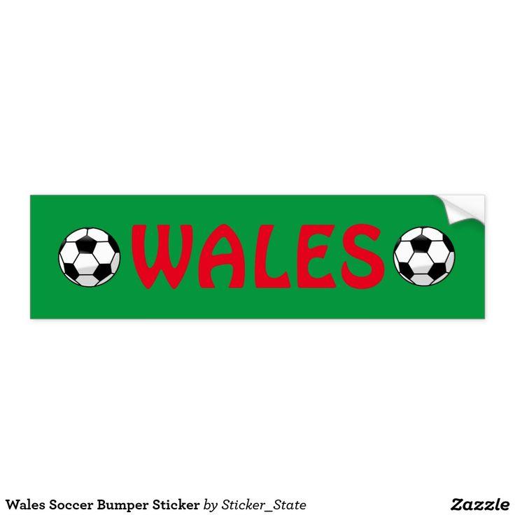 Wales Soccer Bumper Sticker