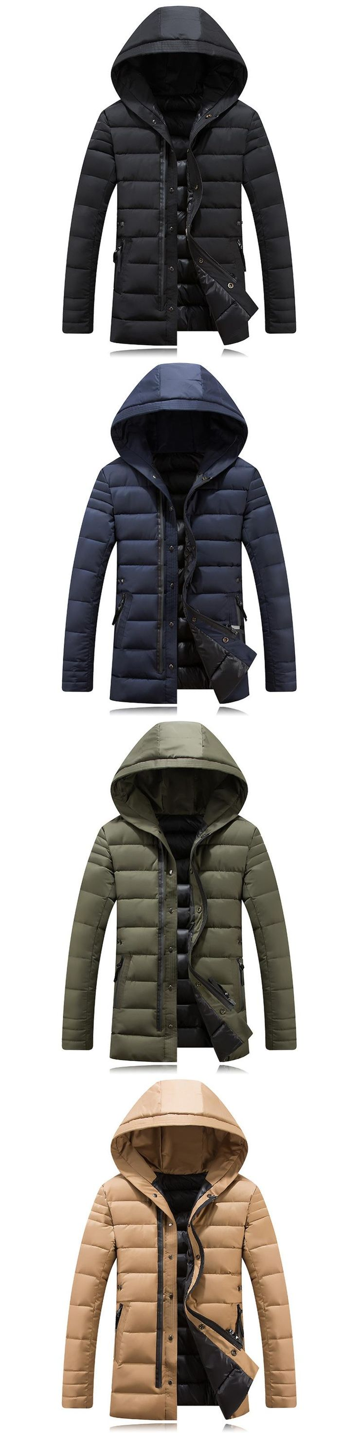 Port&Lotus Winter Men Coats with Hat Brand New Warm Camperas Hombre 2016 Invierno Parka Men 062 Jaqueta Masculina