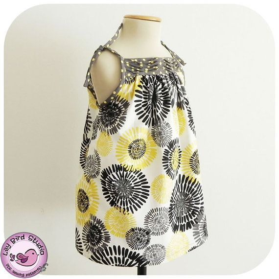 Pleated sundress  9 months to 8 years  PDF par TheLilyBirdStudio, $6.90