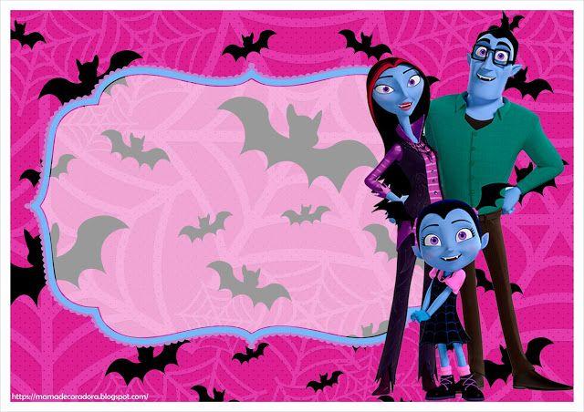 Cartel feliz cumpleanos vampirina