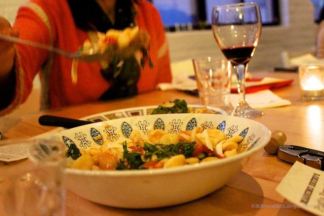 Massimo Bruno's cavatelli with rapini and tomatoes.