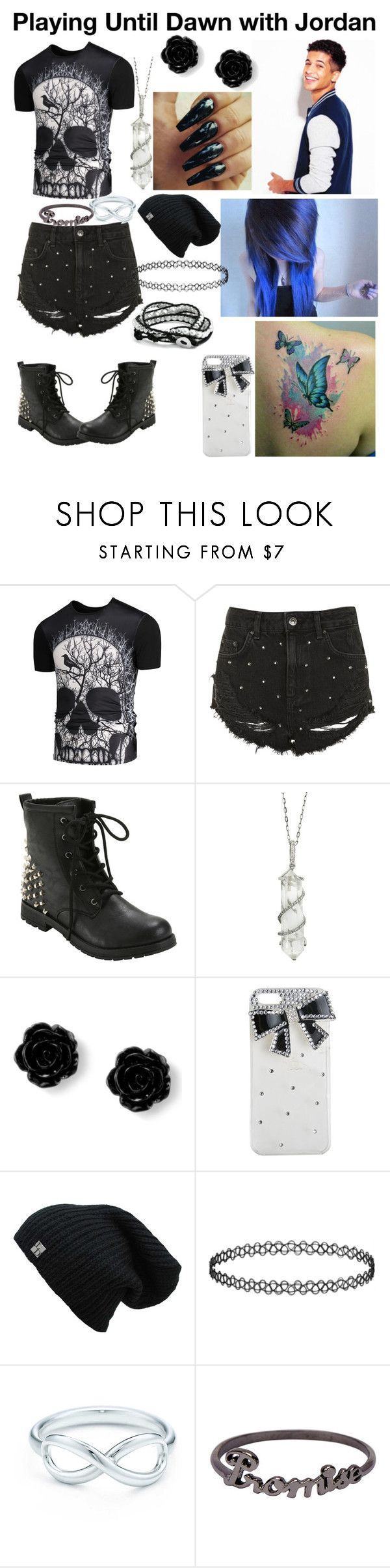 """""""Playing Until Dawn with Jordan Fisher"""" by puppylover32203 on Polyvore featuring Topshop, Hot Topic, Sharon Khazzam, Wet Seal, Tiffany & Co., Icepinkim and Bling Jewelry"""