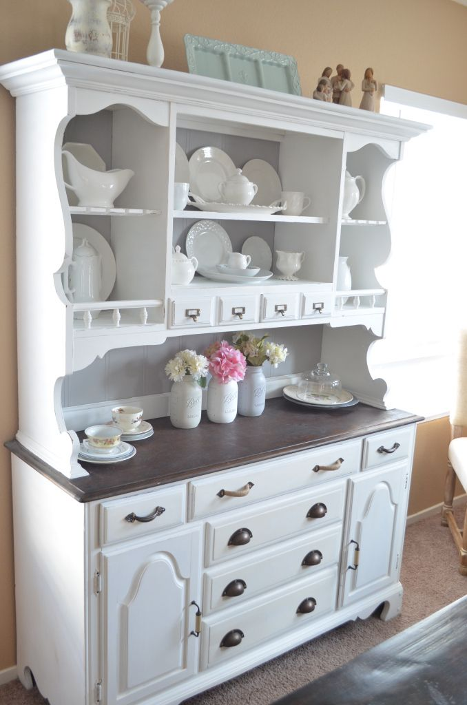 25 best ideas about dining hutch on pinterest painted for Painted dining room hutch ideas