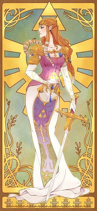 Legend of Zelda. Princess Zelda, she looks almost animalistic
